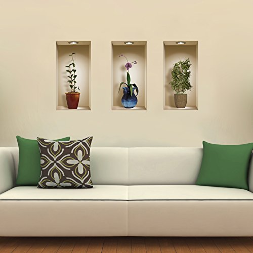 blue and brown wall decals - 6