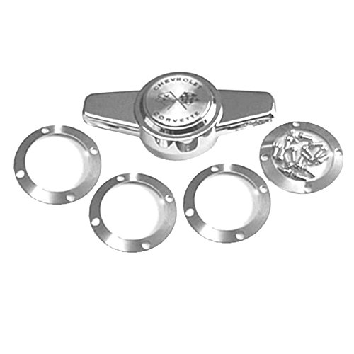 Eckler's Premier Quality Products 25376461 Corvette Wheel Cover Spinners Set