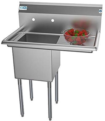 Amazon.com: KoolMore - Fregadero de 1 compartimento de acero ...