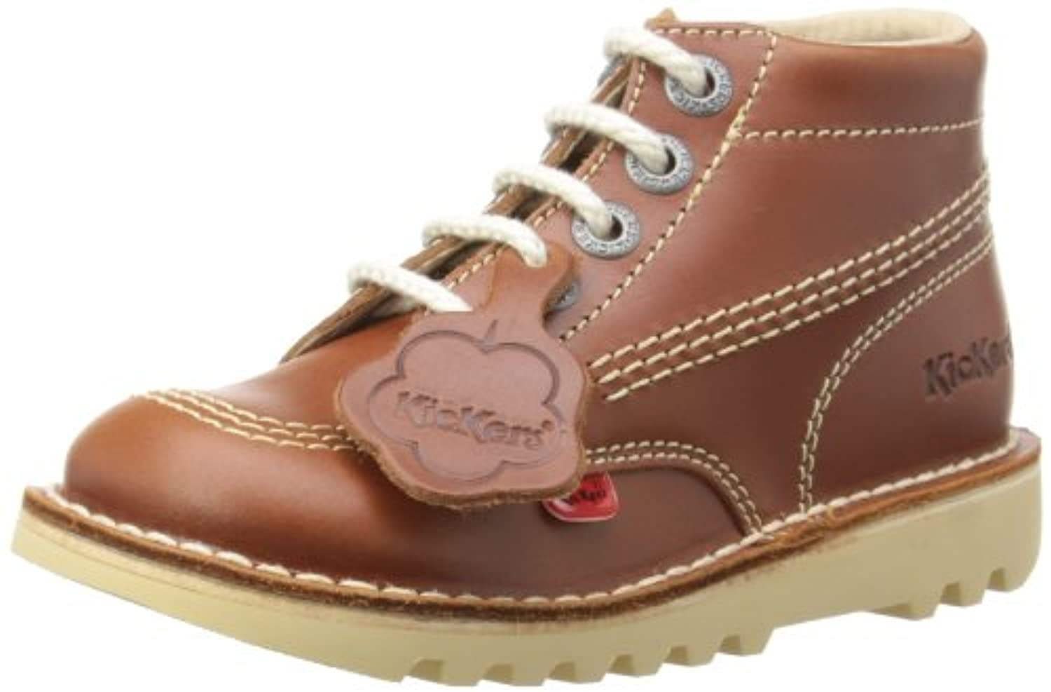 Kickers Unisex - Child Kick Hi Boots - Kids Unisex Girls' Other - Dark Tan, 1 UK (33 EU)