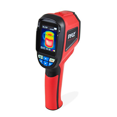 Pyle Infrared IR Thermal Imaging Camera Digital Heat Sensor Spotter & Visible Light Camera with  Temperature Measurement : -4°F ~ 572°F, Display Screen household heating cooling .Check food safety by Pyle