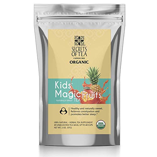 Kids Tea, Delicious Caffeine Free Herbal Tea for kids- Certified USDA Organic- 20 Unbleached Tea Bags- Up to 40 servings