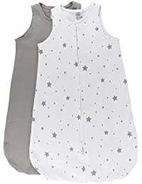 100% Cotton Wearable Blanket Baby Sleep Bag Grey Stars 2...