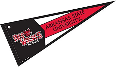 Amazon Com College Flags Banners Co Arkansas State Red Wolves Pennant Full Size Felt Sports Outdoors