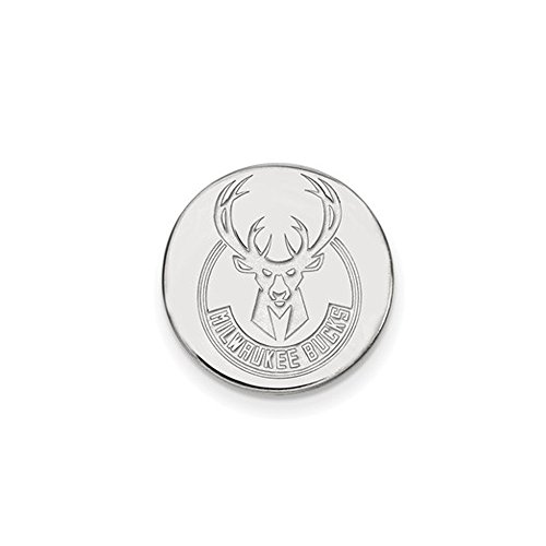 NBA Milwaukee Bucks Lapel Pin in 14K White Gold by LogoArt