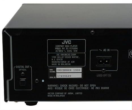 Amazon.com: JVC xl-fz158bk 5-disc Carrusel CD Changer: Home ...