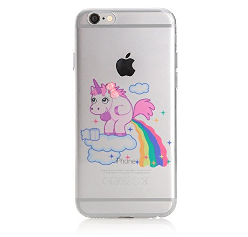 Crazy Unicorn iPhone 6 6s TPU Silikon Bumper Case Schutzhülle - F**king Rainbow