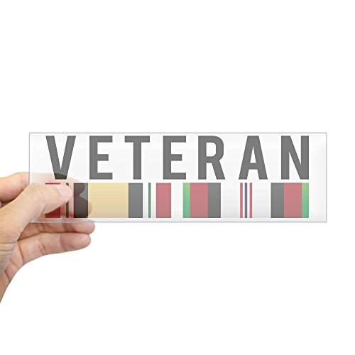 CafePress Veteran Bumper Sticker Rectangle