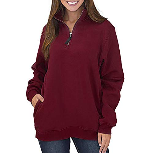 Clearance Deals Women Sweatshirt BeautyVan Women Zippers Pockets Pullover Coat Outerwear Tops Shirt