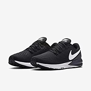 Nike Women's Air Zoom Structure 22 Running Shoe Wide Black