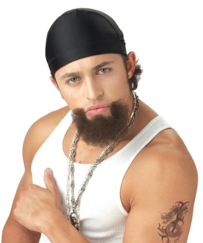 (California Costumes The Homie Goatee, Dark Brown, One Size Costume)