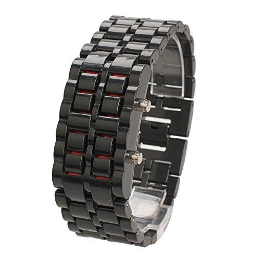 Women's Black Bangle LED Wrist Watch - 2