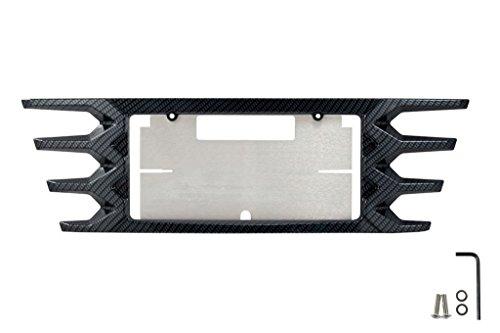 2014-2018 Corvette Rear License Plate Frame - Black Hydro Carbon Fiber