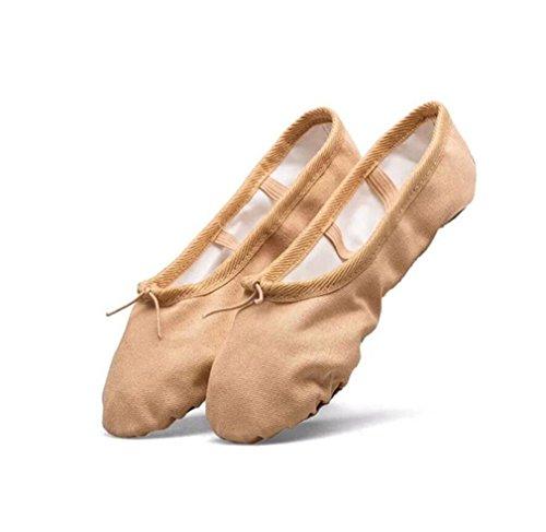 Adulti In Elastico Rosa Scamosciata U Con Ballo Classica Da Balletto Scarpe Scarpe Per Scarpe LUCKY Da Da Pelle Danza wFqOxXHUw