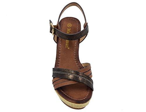 Max Muxun - Zapatos de tacón  mujer Marrón