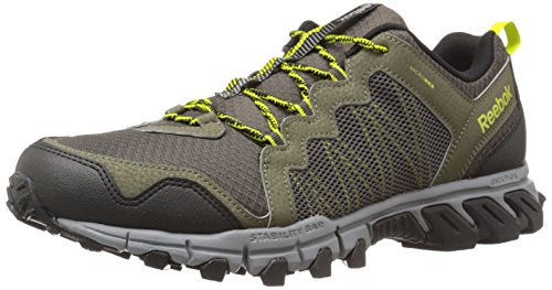 Reebok Men's Trailgrip RS 4.0 Running Shoe, Modern Olive/Vital Green/Flat Grey/Stone/Black, 14 M US