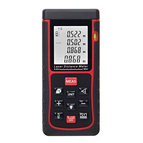 BUYEONLINE 50M/164Ft Digital Laser Distance Meter Range Finder Measure Distance Area Volume by BUYEONLINE