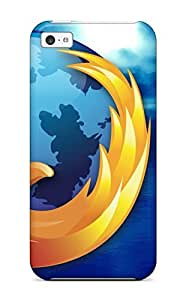 Awesome Firefox Logo Technology Man Made Technology Flip Case With Fashion Design For Iphone 5c