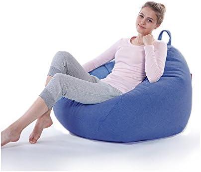 Puf Colchoneta sillón Saco Pouff puf puff Pera gota de lino alta calidad: Amazon.es: Hogar