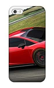 High Impact Dirt/shock Proof Case Cover For Iphone 5/5s (2014 Lamborghini Gallardo Gt3 Fl2)