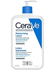 CeraVe Daily Moisturizing Lotion, Face, Body & Hands Lotion for Dry Skin with Hyaluronic Acid, Suitable for Sensitive Skin, Fragrance-Free, Verified Product by CeraVe, 473 mL