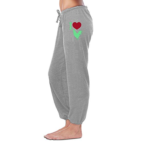 Price comparison product image Yesher Vintage Women's I LOVE COCK Long Workout Pants - Size XL