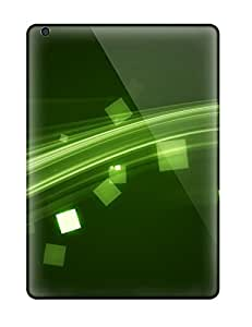 New Premium Flip Case Cover Electrify Green Skin Case For Ipad Air