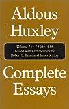 Complete Essays, 1936-1938, Aldous Huxley, 156663394X
