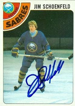 Jim Schoenfeld autographed Hockey Card (Buffalo Sabres) 1978 Topps #178 - Autographed Hockey Cards