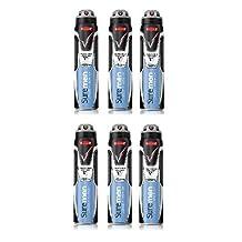 6 x Sure Men Invisible Ice Aerosol Anti-Perspirant Deodorant 250ml by Sure Men