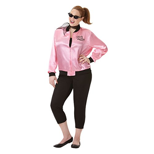 amscan Adult Greaser Babe Costume - Plus XXL (18-20), Multicolor -