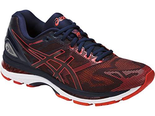 - ASICS Mens Gel-Nimbus 19 Running Shoe, Red Clay/Peacoat, 10.5 Medium US