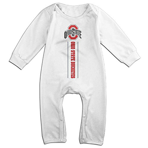 Dadada Newborn Ohio State Football Long Sleeve Bodysuit 12 (Charlie Brown And Linus Halloween Costumes)