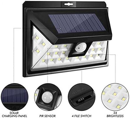 STRIR Lampara Solar Exterior Luz Solar, 24 LED Solar Jardin para ...