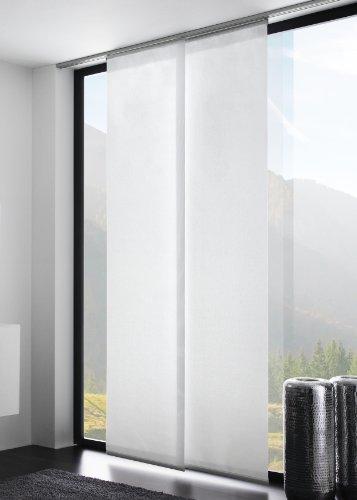 Flächenvorhang/Schiebegardine UNI transparent, Basic, Farbe: weiß, 60x245cm, hochwertige Verarbeitung - mydeco