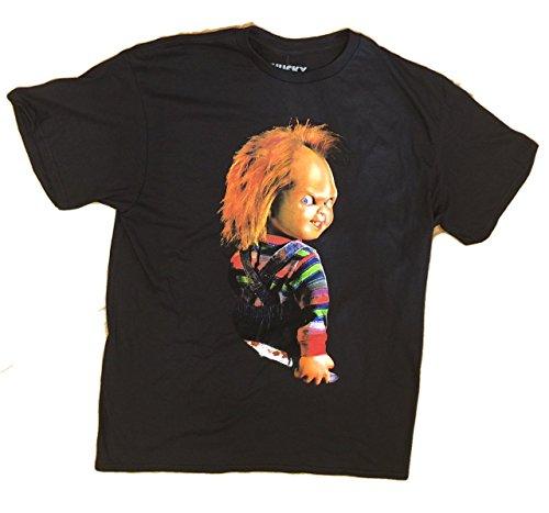 Chucky Child's Play Halloween Killer Doll Scary Tee T-Shirt (Large)