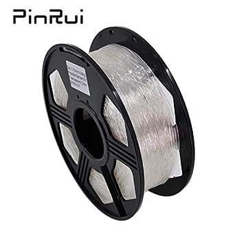 Filamento TPU 1,75 mm transparente flexible 3D impresora filamento ...