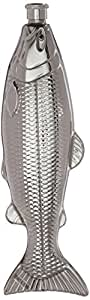 Kikkerland Fish Flask, Stainless Steel
