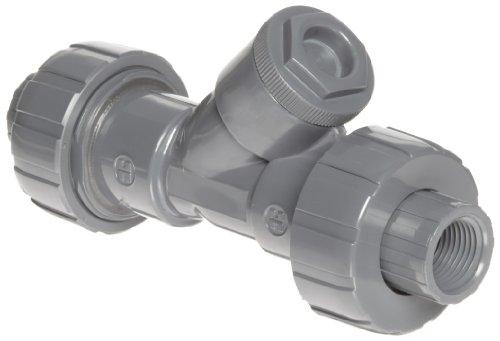 Hayward PVC Y-Strainer, True Union, FPM Seal, 1/2'' Threaded by Hayward