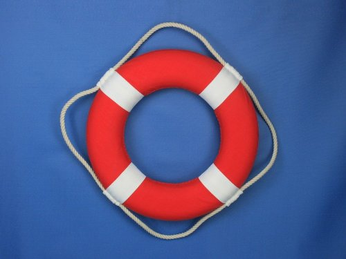 Hampton Nautical Decorative Vibrant Red Lifering with White Bands, 15 inches by Hampton Nautical (Image #8)