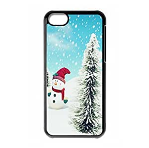 Merry Christmas Snowman design for iPhone 5c hard back case