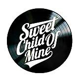 Revamped Póster con Texto en inglés Sweet Child of Mine Song Lyrics by Guns N'Roses on a Vinyl Record Album Wall Art 12' Black Circle con Cita de música y Texto en inglés First Song