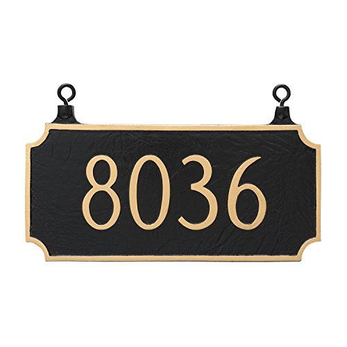 - Montague Metal TSH-0005S1-H-BG Double Sided Hanging Princeton Address Sign Plaque, 7.25