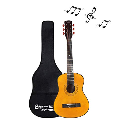 30 Inch Acoustic Guitar, Mini Guitars Instrument Beginner Kit for Kids/Beginners/Child with Gig Bag Natural Guitar(1/2 Size)