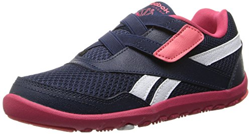 Reebok Ventureflexexplore C Running Shoe,Navy/Magenta Pop/White,13.5 M US Little Kid
