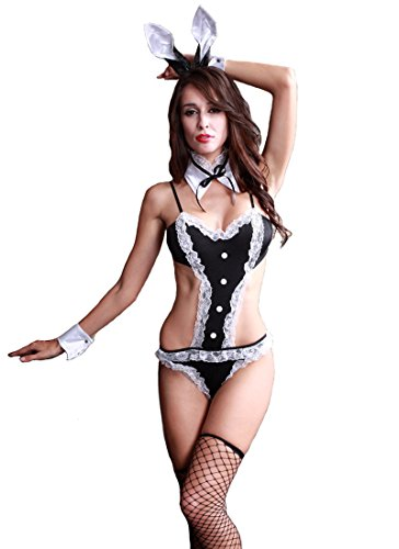 Rulercosplay Sexy Bunny Costume for Women Sexy Rabbit Ears Suit Nightie Lingerie (Bunny Suit A) (Sexy Bunny Lingerie)
