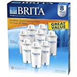 Brita Pitcher Replacement Filters,white,8 pack