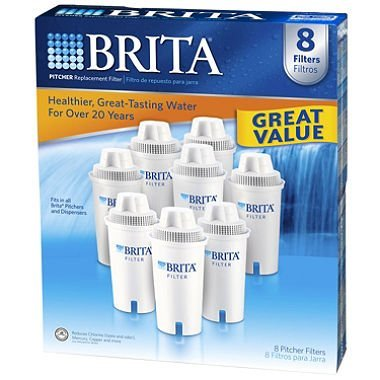 Brita Pitcher Replacement Filters,white,8 pack by Brita