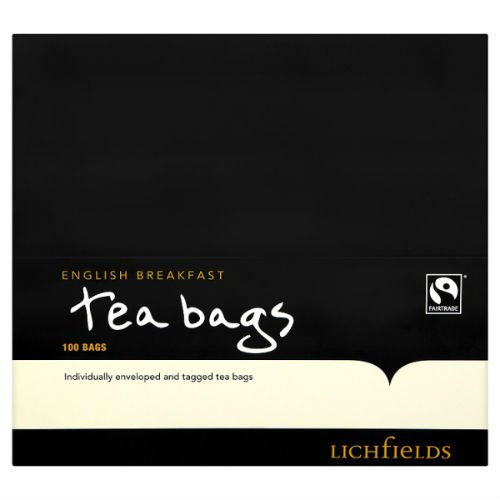 Lichfields 100 English Breakfast Tea Bags 200G X Case Of 12 by Lichfields