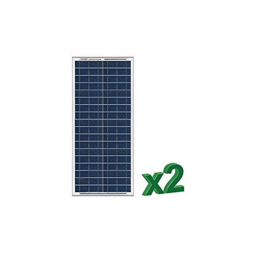 Peimar - 2 x 30W 12V Photovoltaic Solar Panels Set tot. 60W Camper Boat Hut - SET2-30